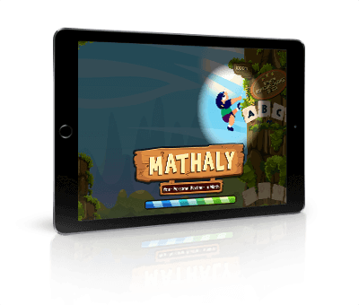 Online Math Practice Game  - Mathaly. 10 times more math practice