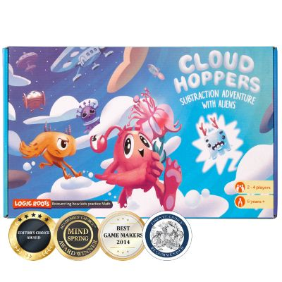 Cloud Hoppers - Subtraction Board Game