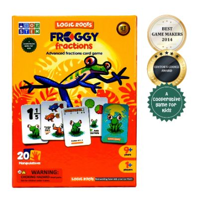 Froggy Fractions - Fractions Card Game