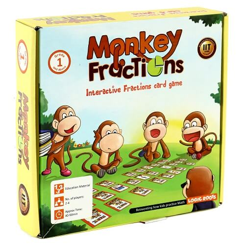 Monkey Fractions - Fractions Card Game