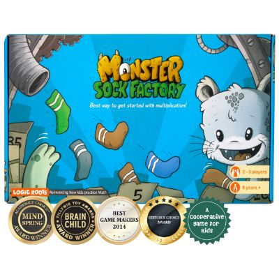 Monster Sock Factory - Multiplication Table Board Game