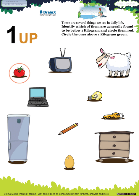 1 Up worksheet