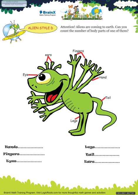 Alien Style D worksheet