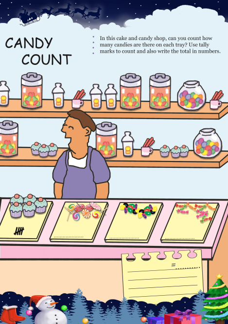 Candy Count worksheet