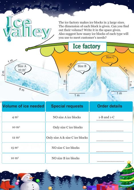 Ice Valley worksheet