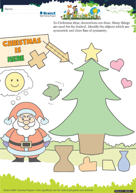 Christmas Is Here.Christmas Is Here Math Worksheet For Grade 3 Free
