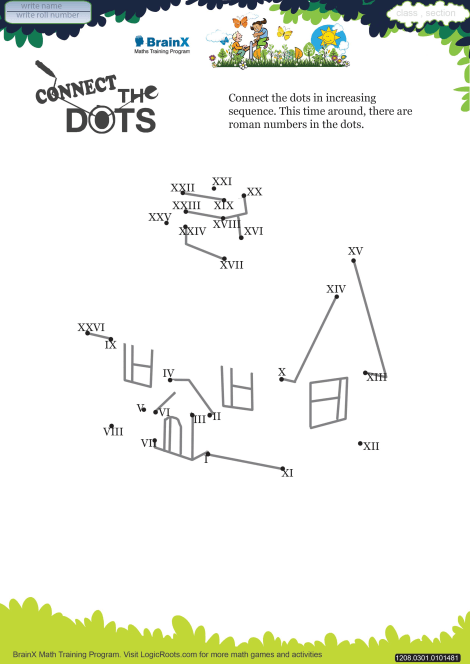 connect the dots house math worksheet for grade   free  printable  connect the dots house worksheet