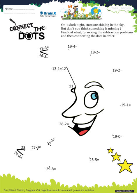 connect the dots moon math worksheet for grade   free  printable  connect the dots moon worksheet