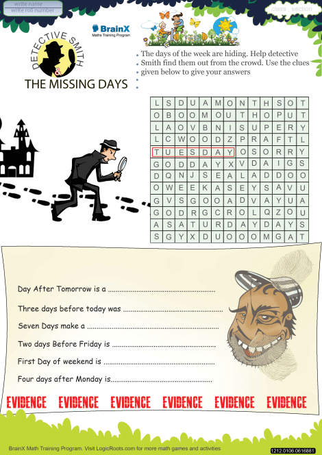 photograph about Printable Detective Games named Detective Smith And The Shed Times Math Worksheet for