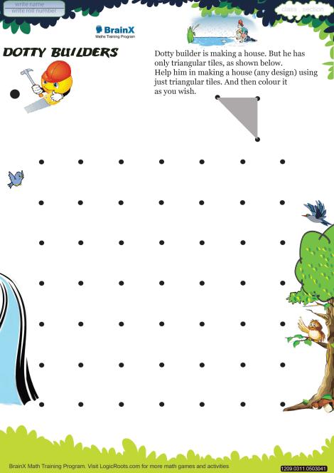 Dotty Builders Math Worksheet for Grade 3 | Free & Printable ...