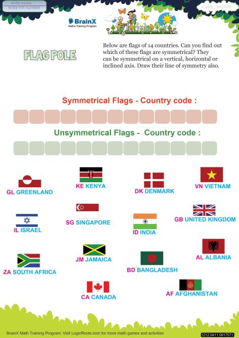 Flag Pole worksheet