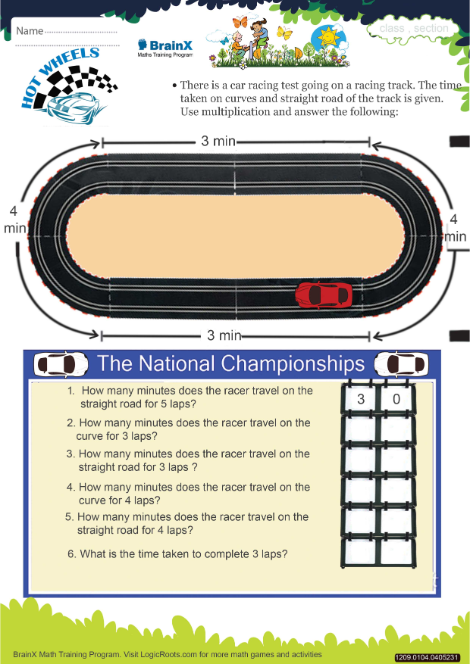graphic regarding Hot Wheels Printable titled Incredibly hot Wheels Math Worksheet for Quality 1 Free of charge Printable