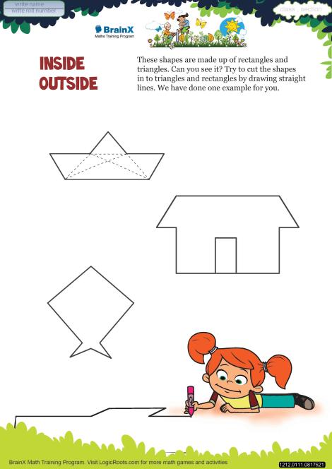 Inside Outside Math Worksheet for Grade 1 | Free & Printable Worksheets