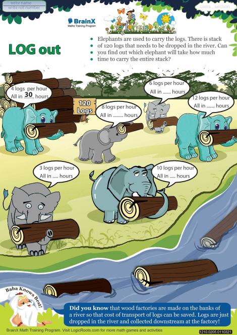 Log Out worksheet