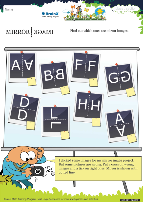 Mirror Image worksheet