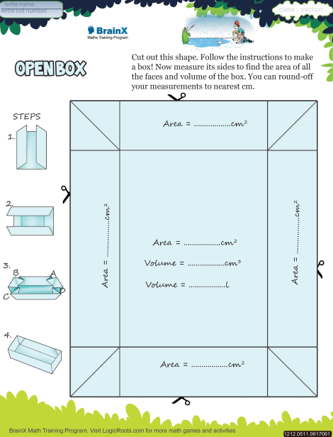 Open Box Math Worksheet For Grade 5 Free Printable Worksheets Rh Logicroots Com Electrical Component Diagram