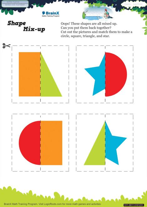 Shape Mix Up Math Worksheet for Kindergarten | Free & Printable ...
