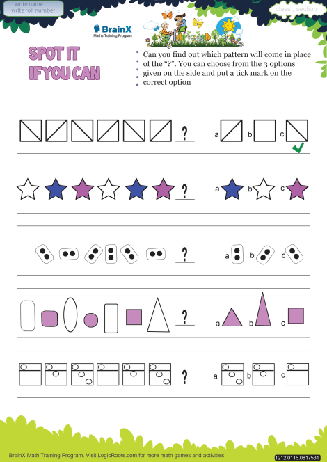 Spot It If You Can Math Worksheet for Grade 1 | Free ...