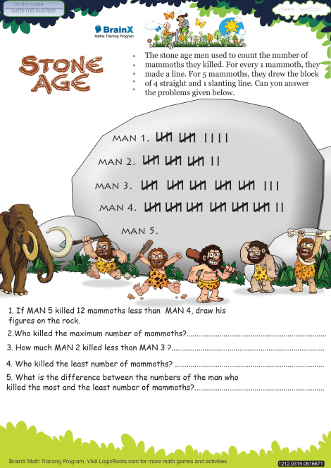 Stone Age worksheet