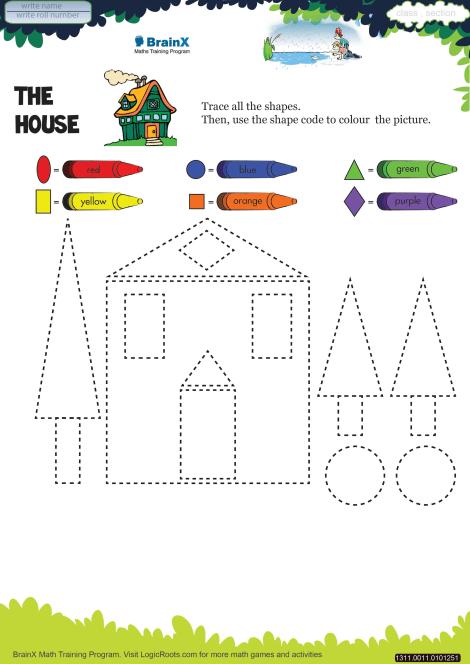 The House Math Worksheet for Kindergarten | Free & Printable Worksheets