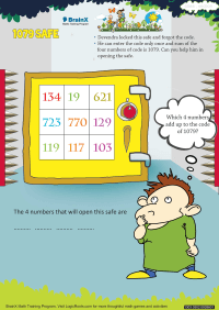 Addition worksheet - 1079 Safe