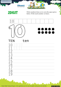 2 Digit worksheet