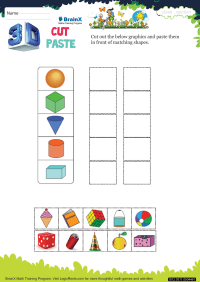 3 D Cut Paste worksheet