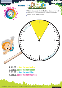 Time worksheet - Colours Of Time 1