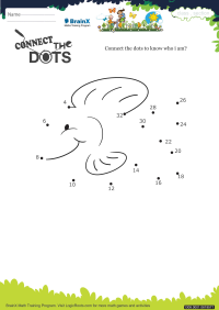 Numbers worksheet - Connect The Dots Fish