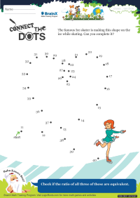 Numbers worksheet - Connect The Dots Heart