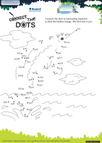 Connect The Dots Whale worksheet
