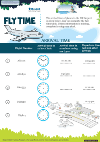 Time worksheet - Fly Time
