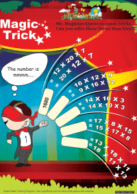 Multiplication worksheet - Magic Trick