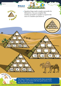 Number Pyramid 1 worksheet
