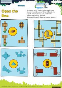 Geometry worksheet - Open The Box