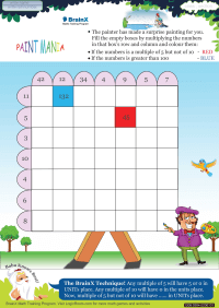 Multiplication worksheet - Paint Mania