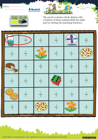 Fractions worksheet - Pair Me Up