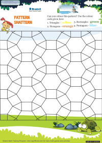 Geometry worksheet - Pattern Shattern