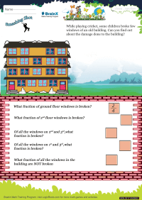 Fractions worksheet - Smashing Shot
