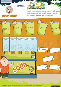 Volume worksheet - Soda Shop