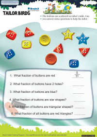 Fractions worksheet - Tailor Birds