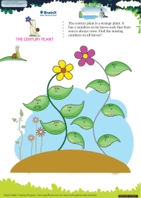 Subtraction worksheet - The Century Plant