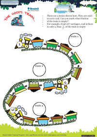 Fractions worksheet - The Goods Train