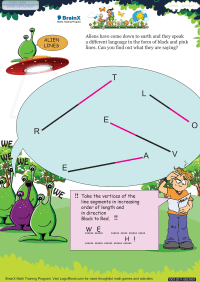 Alien Lines worksheet