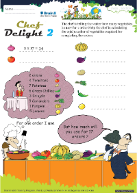 Chef Delight 2 worksheet