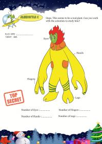 Alien Style C worksheet