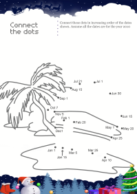 Connect The Dots Beach House worksheet