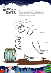 Connect The Dots Bear worksheet