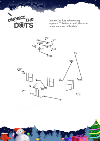 Connect The Dots House worksheet