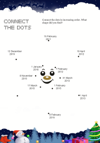 Connect The Dots Star worksheet